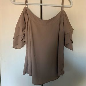 New York & Company nude blouse